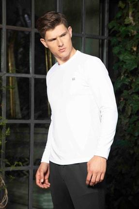 Mondo Beyaz Bisiklet Yaka Sweatshirt 2