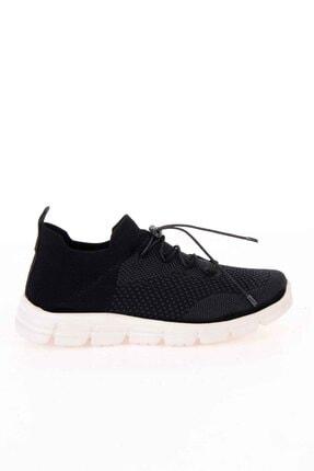 Bambi Siyah Gri Kadın Sneaker K01816027182 1