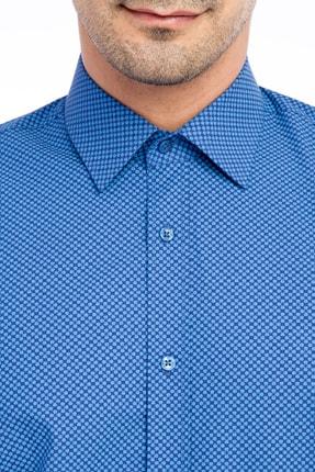 Kiğılı Uzun Kol Desenli Slim Fit Gömlek 2