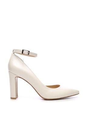 Kemal Tanca Beyaz Kadın Vegan Klasik Topuklu Ayakkabı 22 319 BN AYK 0