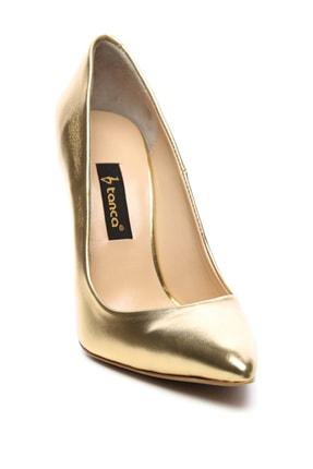 Kemal Tanca Sarı Kadın Vegan Klasik Topuklu Ayakkabı 22 51191 BN AYK Y19 1