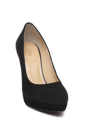 Kemal Tanca Siyah Kadın Vegan Klasik Topuklu Ayakkabı 22 2048 BN AYK 1