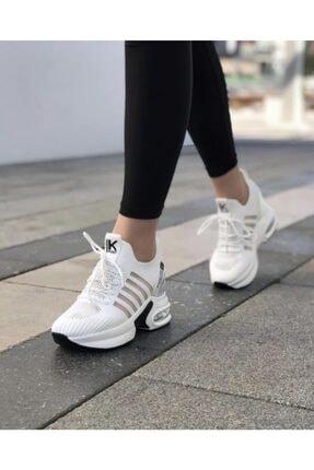Guja Kadın Beyaz Gizli Topuk Yüksek Taban Sneaker 0