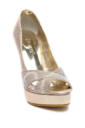 Kemal Tanca Sarı Kadın Vegan Klasik Topuklu Ayakkabı 592 2310 BN AYK 1