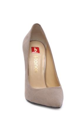 Kemal Tanca Bej Kadın Vegan Klasik Topuklu Ayakkabı 22 2000 BN AYK 1