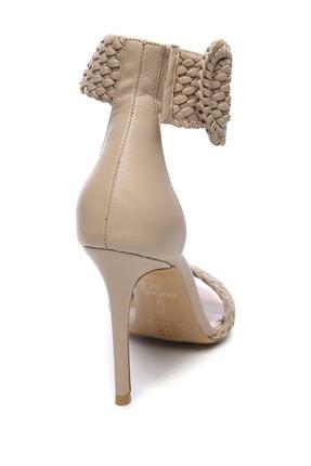 Kemal Tanca Hakiki Deri Bej Kadın Klasik Topuklu Ayakkabı 299 10595 02 BN AYK Y19 2