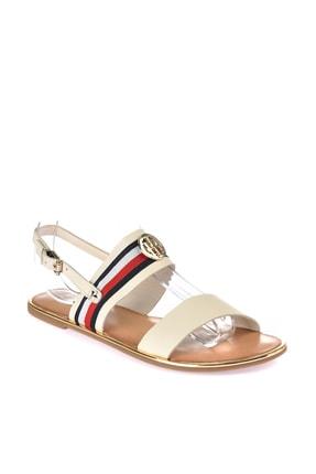 Tommy Hilfiger Kadın Corporate Ribbon Flat Sandalet FW0FW02811 1