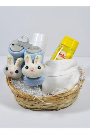 isatolye Mini Zıbınlı Erkek Bebek Hediyelik Sepeti 1