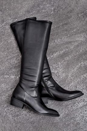 Elle ELIJA Hakiki Deri Kadın Siyah Çizme 0