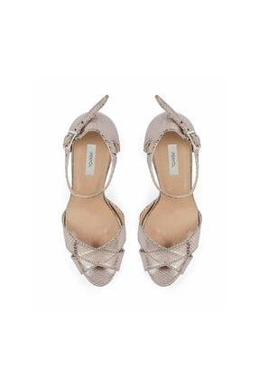 İpekyol Kroko Baskı Topuklu Sandalet 1