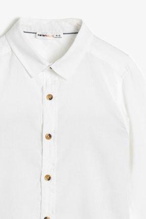 Koton Basic Uzun Ve Katlanabilir Kollu Klasik Yaka Gömlek 2