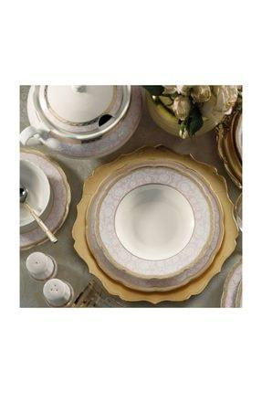 Kütahya Porselen Bone Olympos 62 Parça Bone Yemek Takımı-93374 1