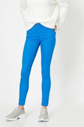 Koton Kadın Lacivert Pantolon 9YAK43550DW 0