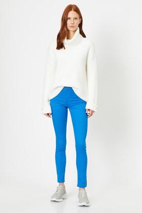 Koton Kadın Lacivert Pantolon 9YAK43550DW 1
