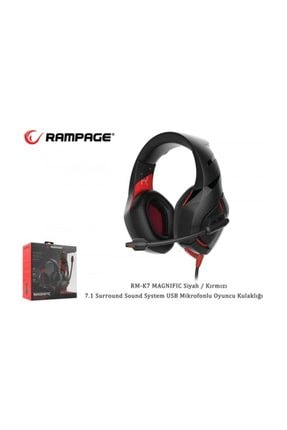 Rampage Rm-k7 Magnific Gaming Mik+kulaklık Usb 7+1 0