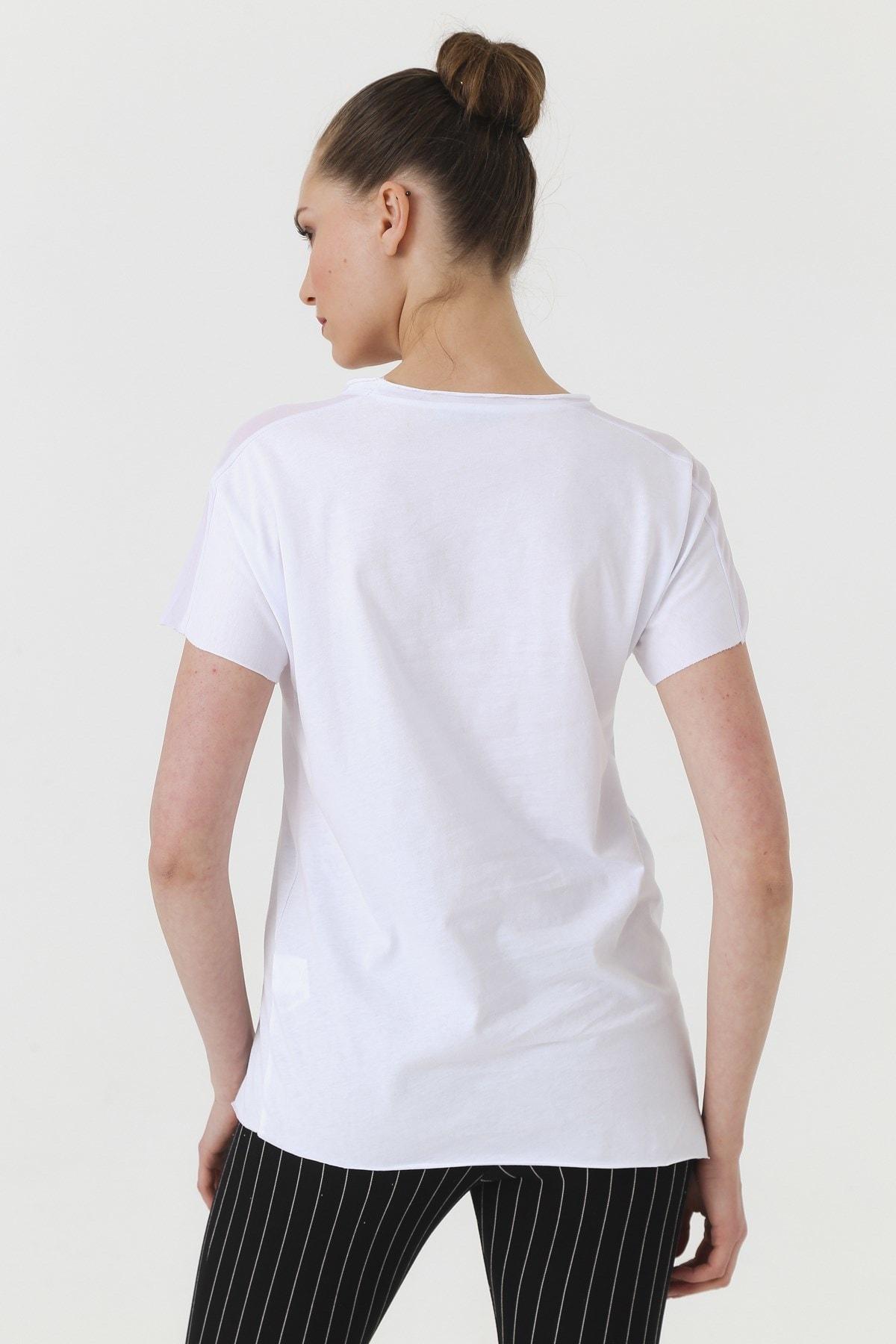 Jument Kadın Beyaz T-shirt 7095 2