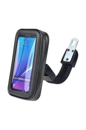 Tex Motosiklet Telefon Tutucu Su Geçirmez Ayna Bağlantılı Xl (6,3 Inç) 0
