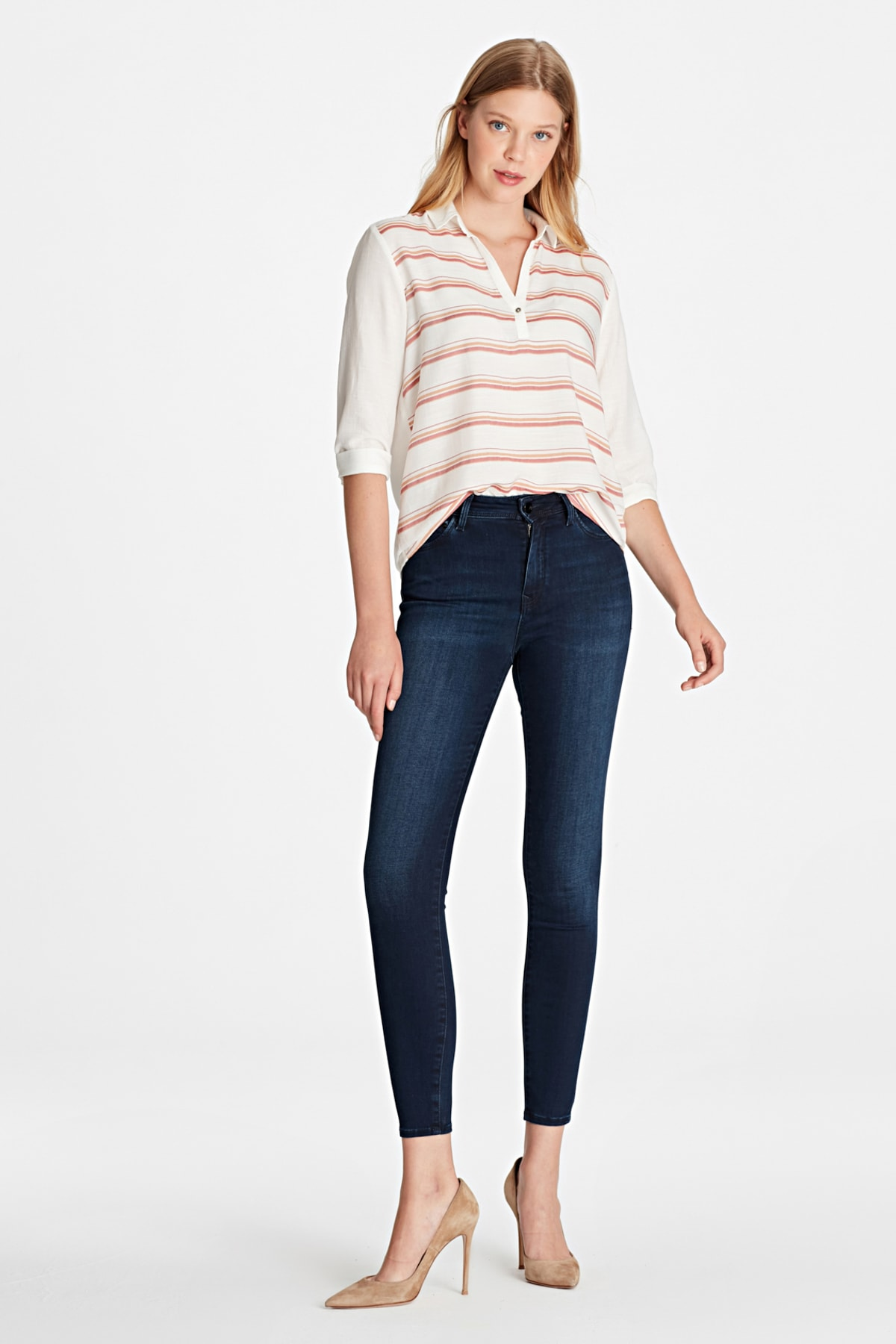 Kadın Tess Gold Lux Move Tencel Jean Pantolon  100328-24285