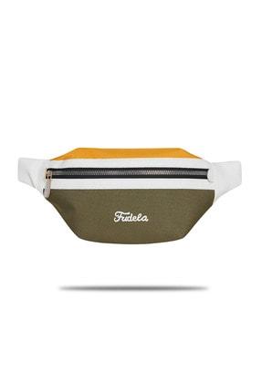 Fudela Haki-Sarı Unisex  Bel Çantası Gncy 1633 0
