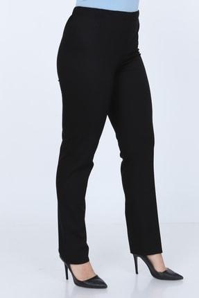 Gül Moda Büyük Beden Siyah Beli Lastikli Pantolon 0