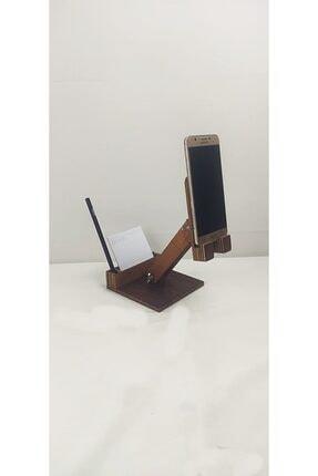 dunyalarvar Iroko Ahşap Masa Üstü Telefon Tutucu Stant Masaüstü Tablet Tutacak Şarj Stand Telefontutucu 3