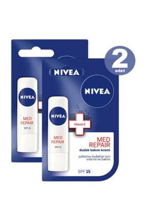 Nivea Dudak Bakım Kremi Med Plus Lipstick 4.8 gr * 2 Adet 0