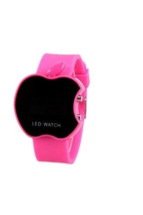 Elma Şeklinde Dijital Led Bileklik Kol Saati - Fuşya Led Watch fuşya-saat