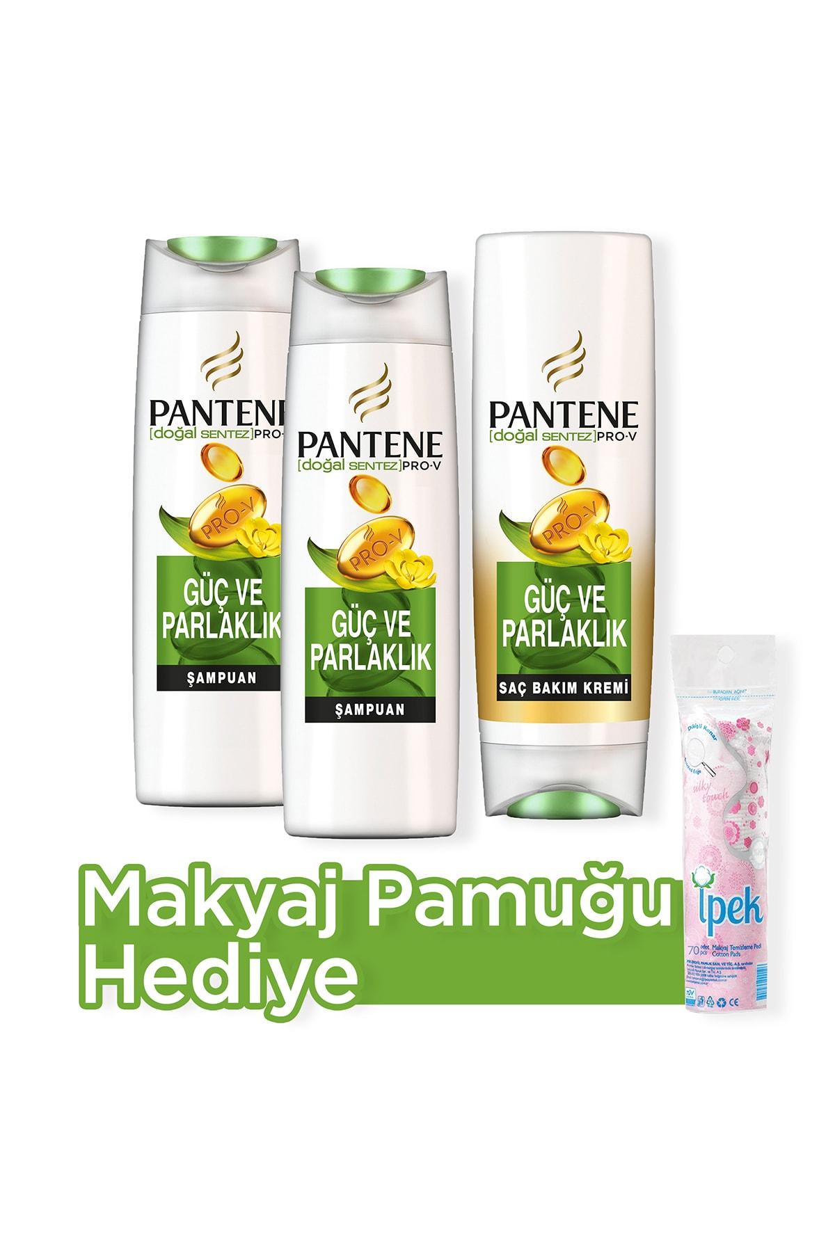 Güç ve Parlaklık Şampuan 500 ml x 2 + Saç Bakım Kremi 470 ml + Makyaj Pamugu Hediye