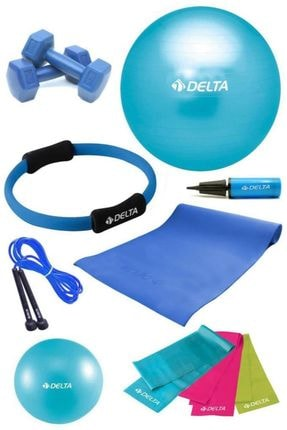 Delta 4 MM Minderli PTS Turkuaz Full Pilates Seti ( 65 cm - 20 cm ) 0