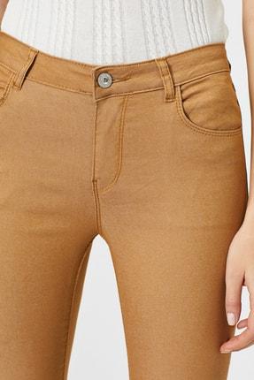 Koton Kadın Kahve Cep Detayli Pantolon 4