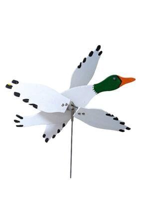 Rüzgaristan Ahşap Rüzgar Gülü Yeşil Başlı Ördek 1