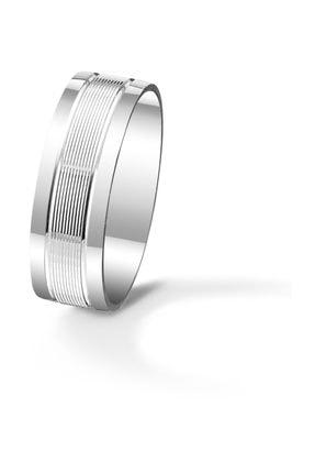 Gümüş Alyans Çizgili Alyans ale-120