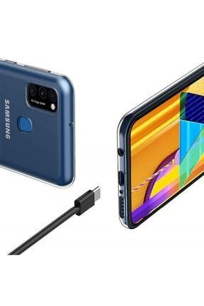 Dijimedia Galaxy M31 Uyumlu Kamera Korumalı İnce Esnek Sararmaz Şeffaf Kılıf 2
