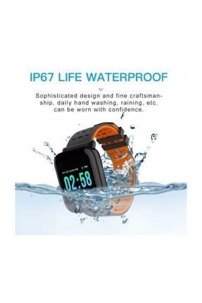 King A6 Smart Watch Akıllı Saat Suya Dayanıklı Nabız Ölçer Mavi 2