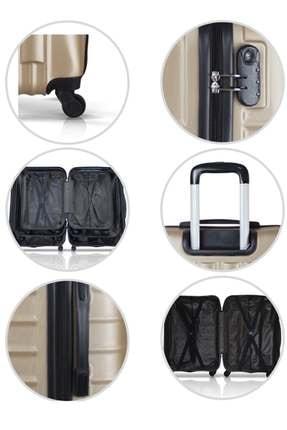 Troya Bags Siyah Unisex 3'lü Set,  Kabin ,Orta ve Büyük Boy Valiz TR1769 3