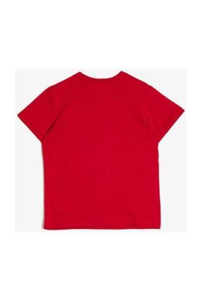 Koton Erkek Kırmızı Yazili Baskili T-shirt 0YKB16255OK 1