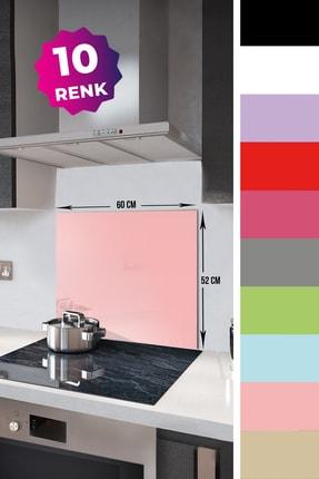Decorita Düz Renk - Somon | Cam Ocak Arkası Koruyucu   |   52cm x 60cm 1