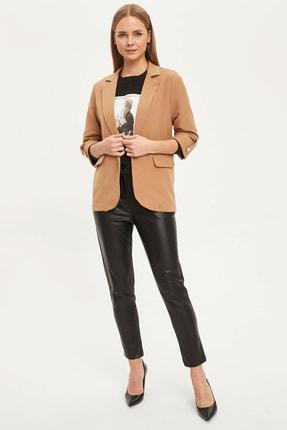 Defacto Kadın Bej Regular Fit Basic Blazer Ceket N1286AZ.20SP.BG630 1