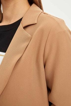 Defacto Kadın Bej Regular Fit Basic Blazer Ceket N1286AZ.20SP.BG630 3