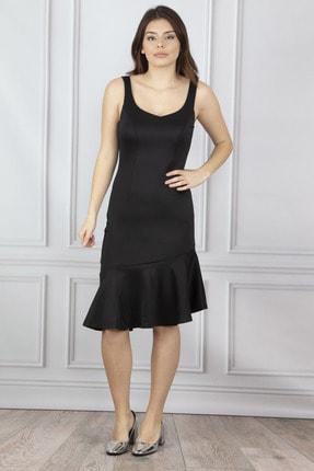 Kadin Siyah Volanli Elbise 26A8917