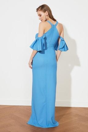TRENDYOLMİLLA Mavi Yaka Detaylı Abiye & Mezuniyet Elbisesi TPRSS21AE0152 3