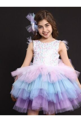 Riccotarz Kız Çocuk Rainbow Princess Elbise 0