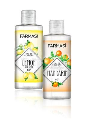 Farmasi Aloe Veralı Limon Kolonyası-225ml Ve Bodrum Mandalinası Kolonyası-225ml 2'li Set 0