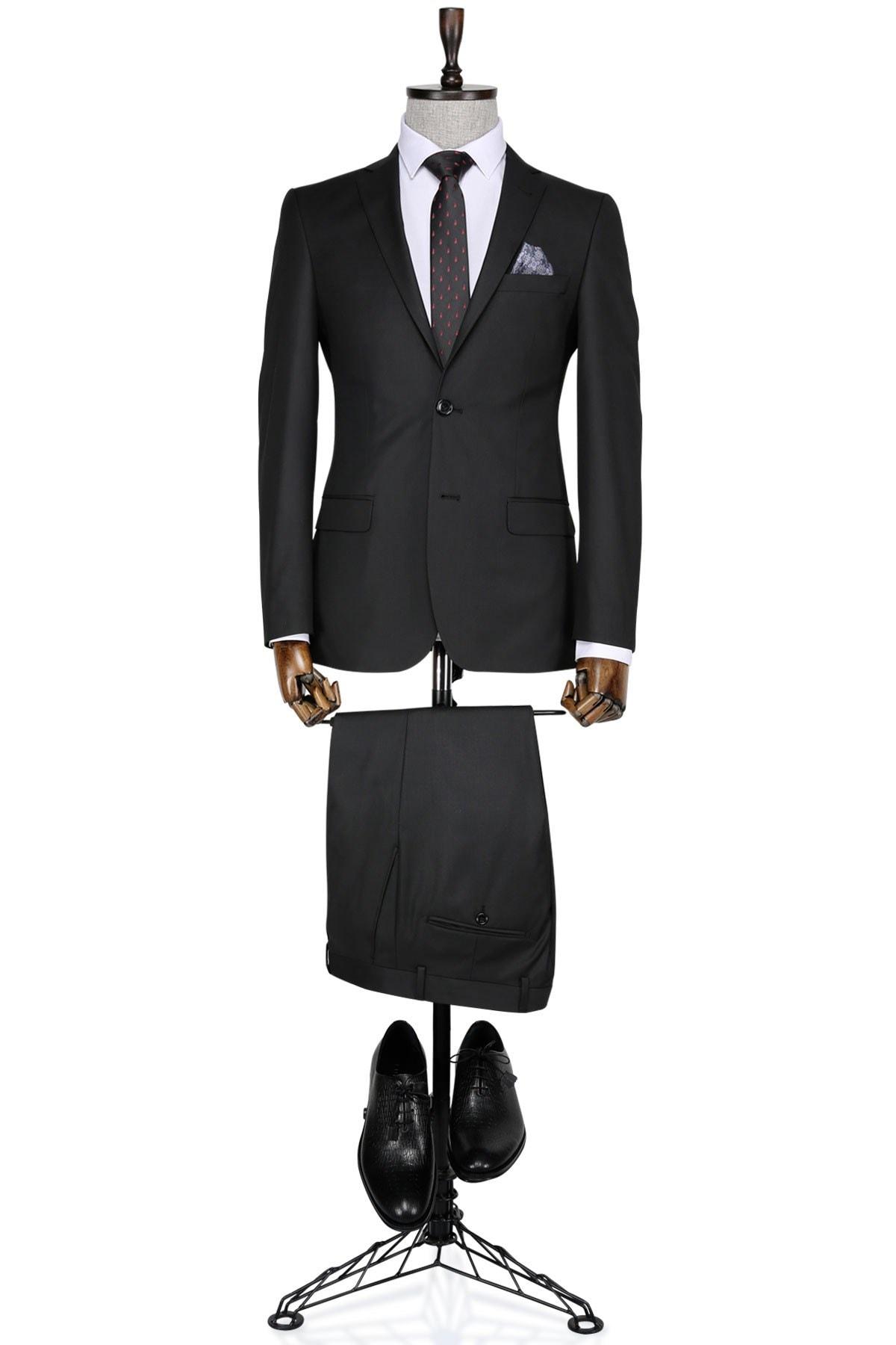 Buenza Slim fit Siyah Erkek Takım Elbise 0