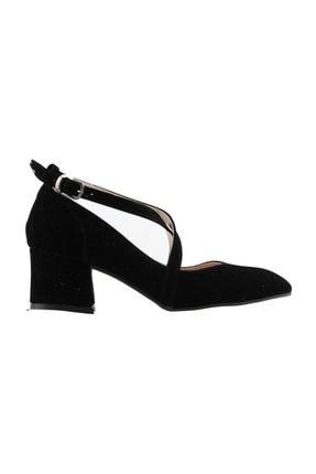Picture of 544-1121 Babet 5 Cm Topuk Kadın Süet Sandalet Ayakkabı