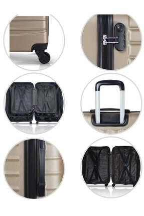 Troya Bags Siyah Unisex 3'lü Set,  Kabin ,Orta ve Büyük Boy Valiz TR1271 3