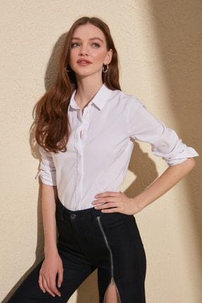 TRENDYOLMİLLA Beyaz Basic Gömlek TWOAW20GO0408 2