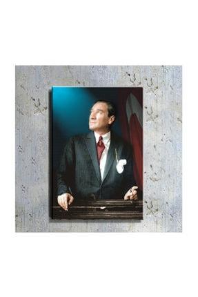 mağazacım Atatürk Ve Türk Bayrağı Portre 50 Cm X 70 Cm Kanvas Tablo Tbl1199 0