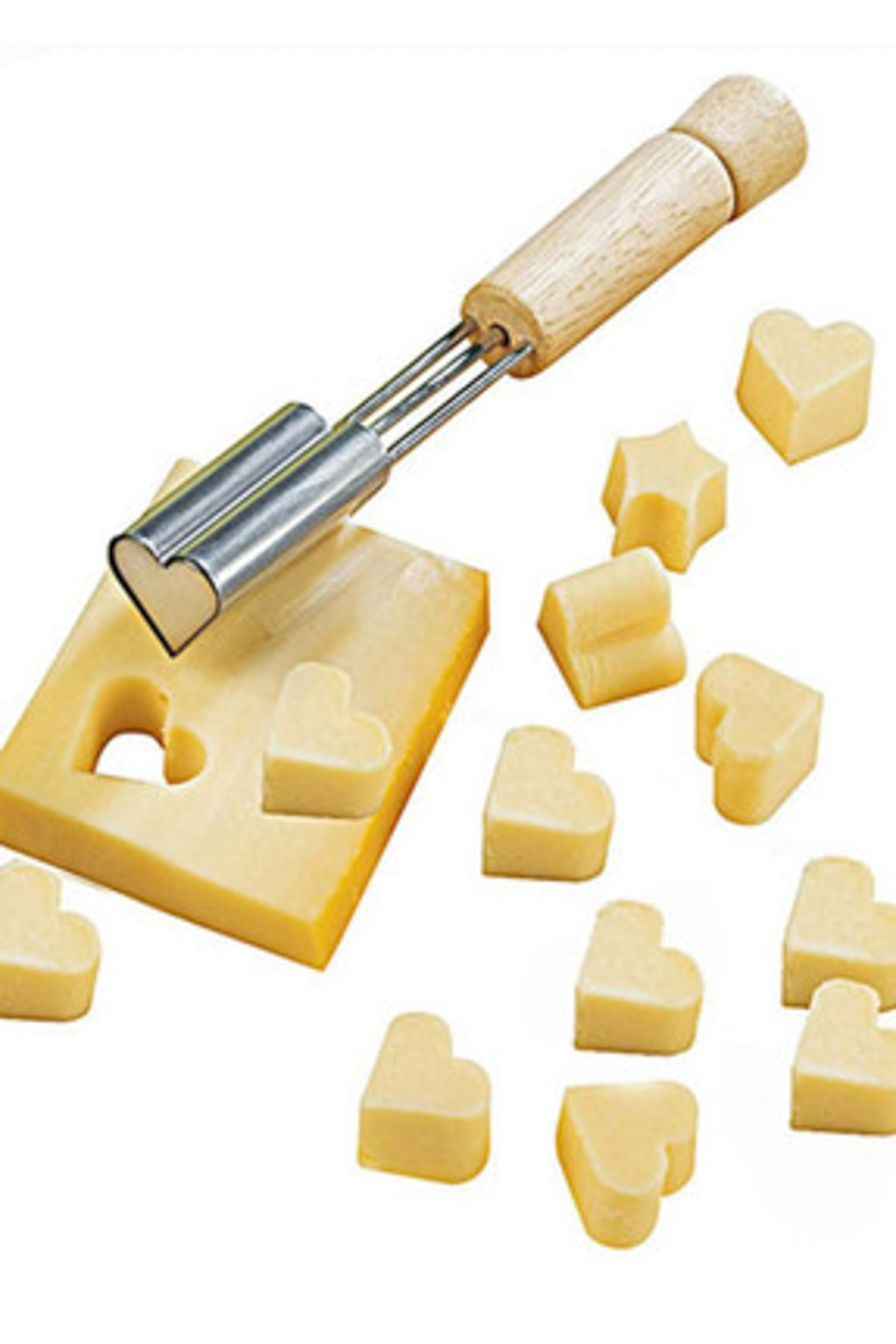 Bambu Çelik Kalp Şeklinde Peynir Bıçağı
