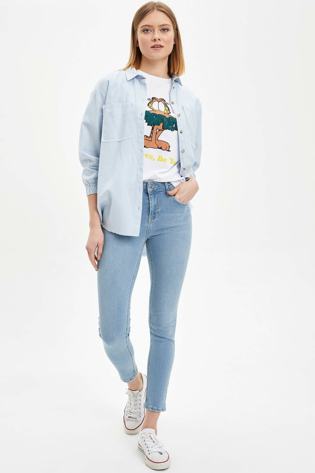 Rebeca Skinny Fit Yırtık Detaylı Jean Pantolon